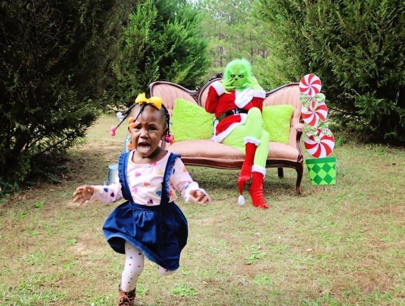 Grinch photoshoot