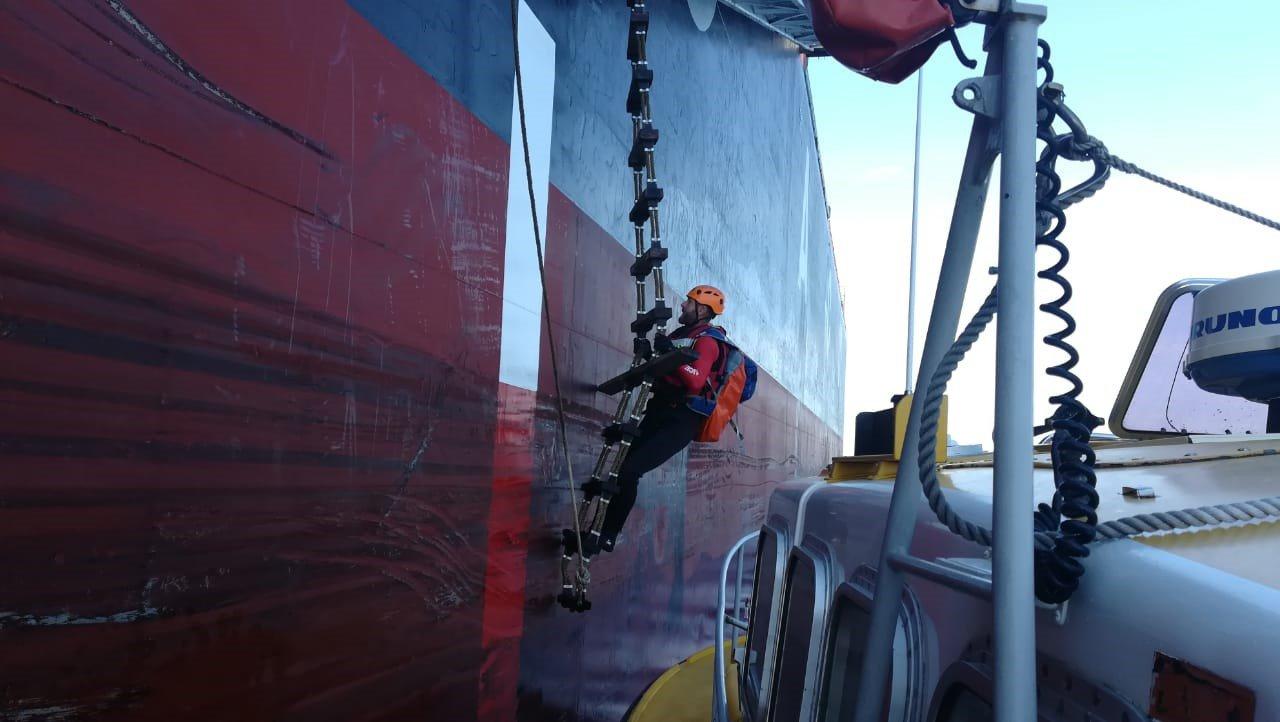 Man aboard ship rescued after stroke