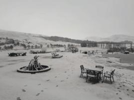 Snow in Bushman's Nek area