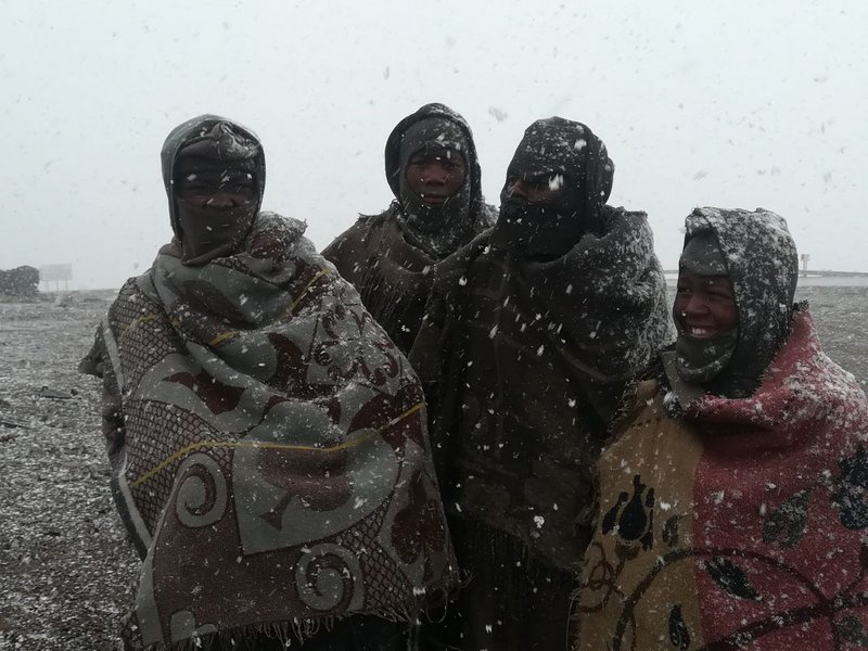 Snow at Black Mountain Pass, in Lesotho - Snow Report