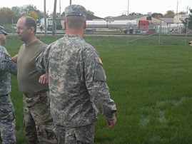 soldier gets tased