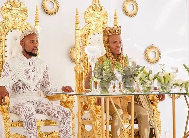 Somiz and Mohale at their traditional wedding