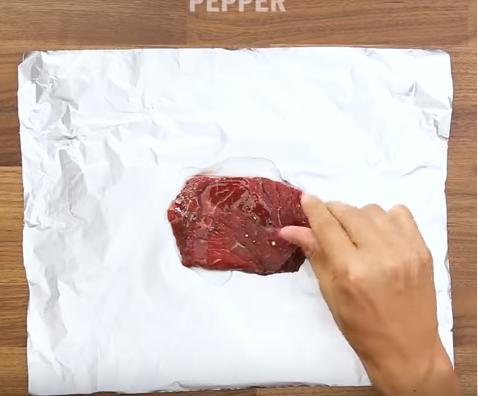 Steak in a foil