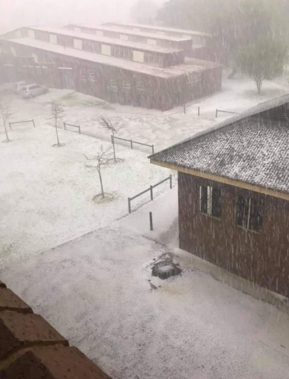 Hail Storm pictures in Benoni