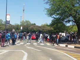 Students at University of Johannesburg UJ