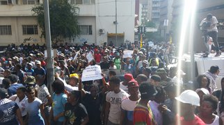 Wits students fees march Cosatu