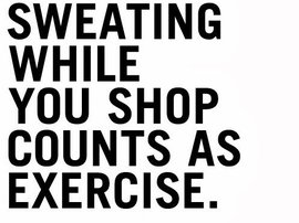 sweating while shopping
