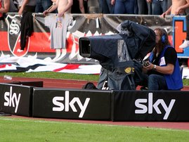Television camera at the sport