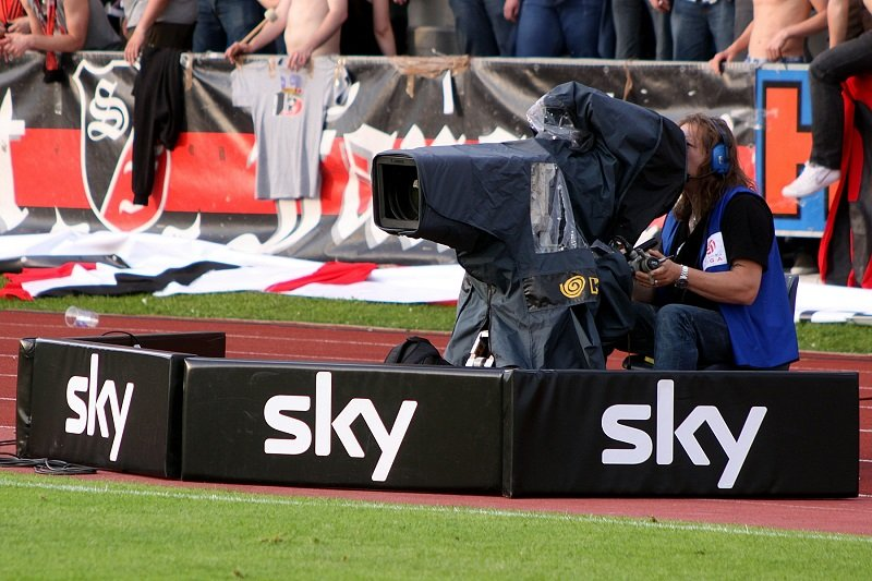 Television camera at the sport