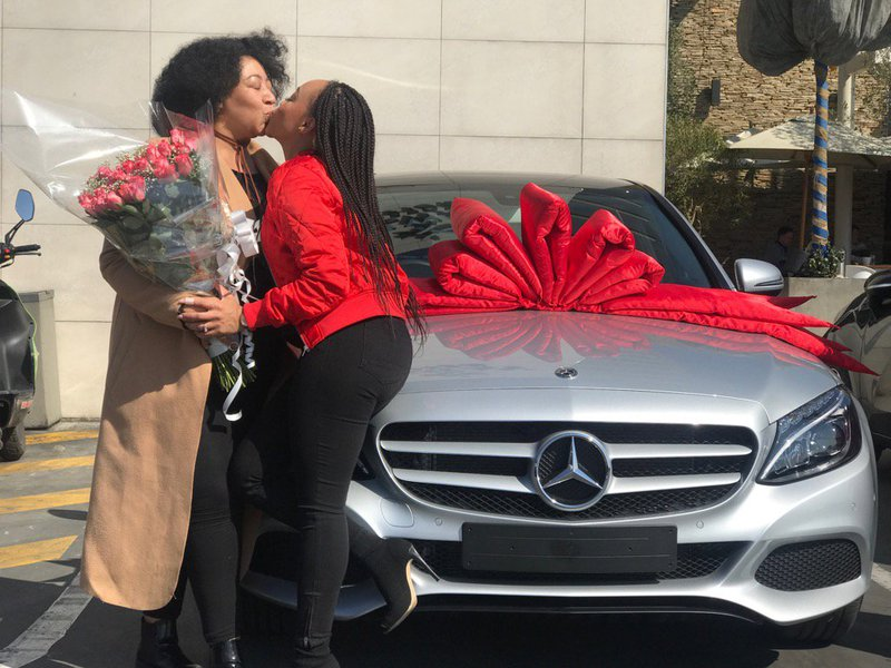 Thando Thabethe and her mother