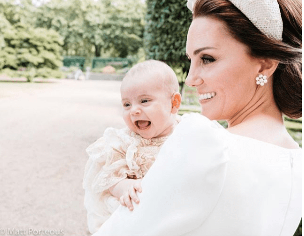 Kate Middleton & Prince Louis Are All Smiles in New Christening Photo
