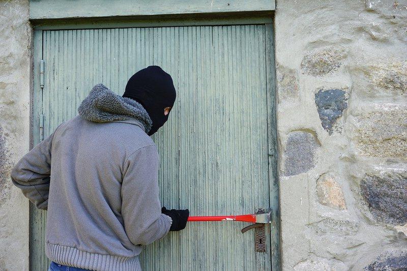 man breaks into house