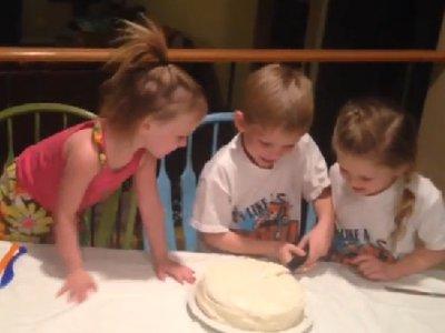 Gender Reveal Cake Goes Horribly Wrong