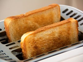 How do you cut your toast