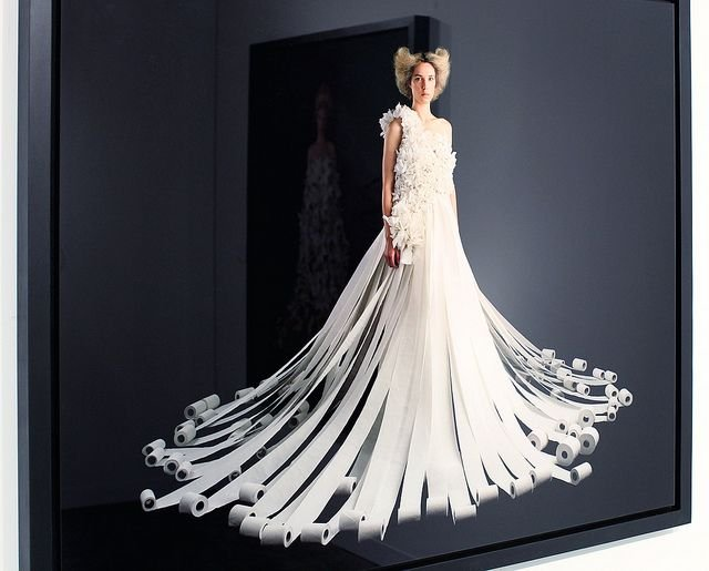 Would You Get Married In A Wedding Dress Made Of Toilet Paper