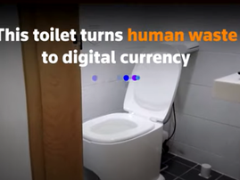 WATCH: A toilet in South Korea turns poop into power and pays you in fruit and coffee