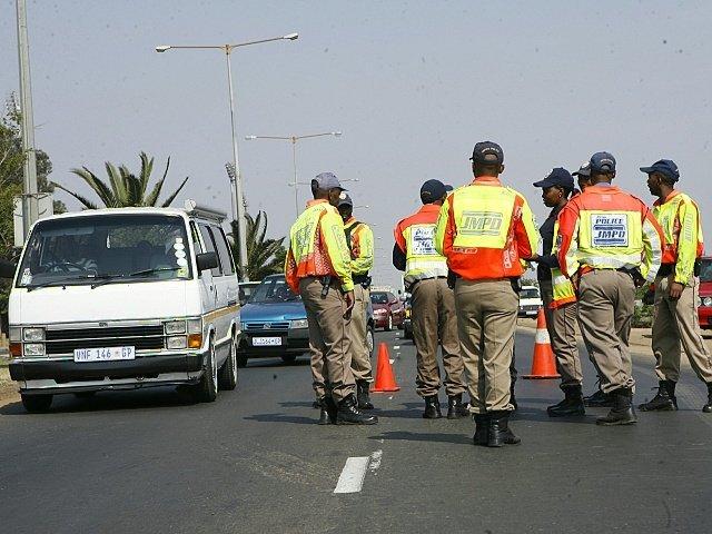Police conducting big road block