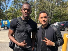 Trevor Noah and Usain Bolt