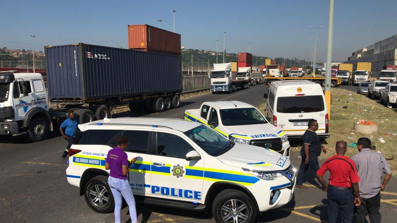Truck drivers bring Durban port operations to standstill