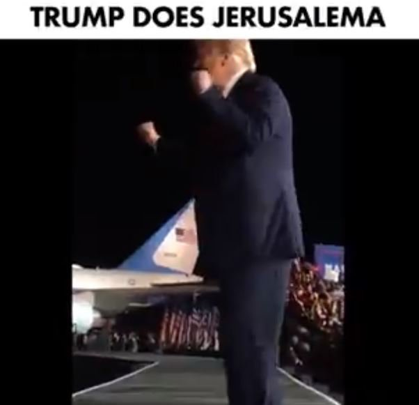 Donald Trump dancing Jerusalema
