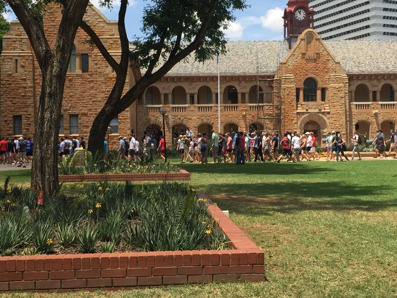 University of Pretoria students resume protest