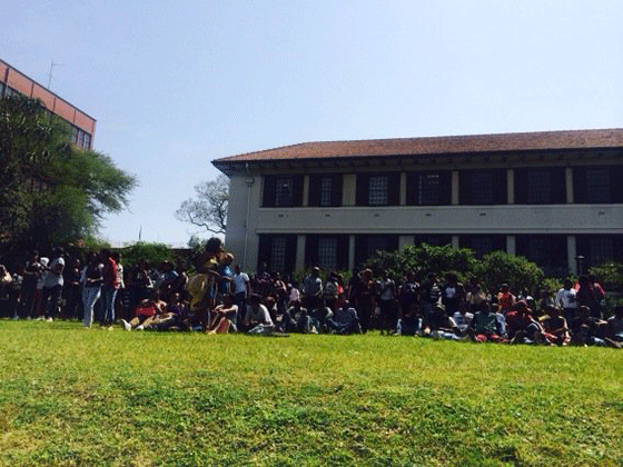 Protests: UKZN Howard College students gather on university lawns