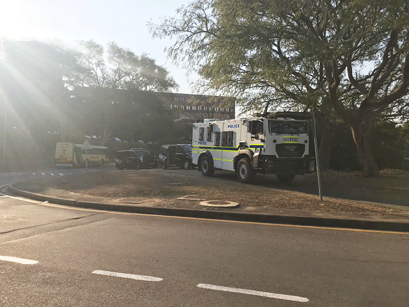 UKZN Westville unrest, police on scene