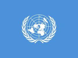 UN flag United Nations logo BIG