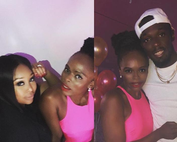 Usain Bolt, Unathi and Minnie Dlamini
