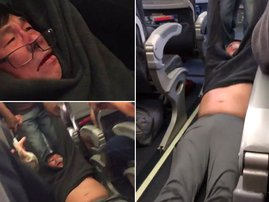 Man dragged off plane