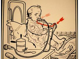 vaping baby 1930s