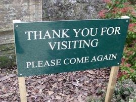 Visiting sign