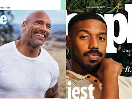 The Rock and Michael B Jordan