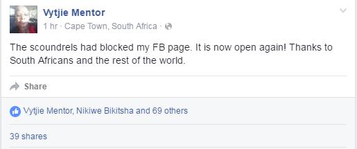 vytjie facebook blocked