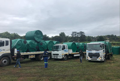 More than 10 000 water tanks delivered across the country