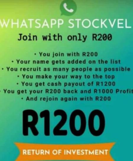 WhatsApp stokvel