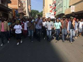 Wits students march in Braamfontein