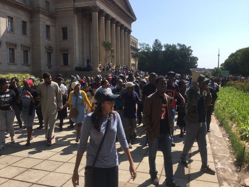 wits students threaten legal action against police