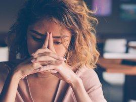 Woman suffering from trauma