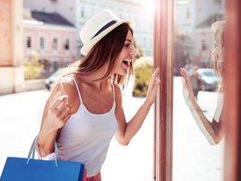 Woman shopping clothes fashion