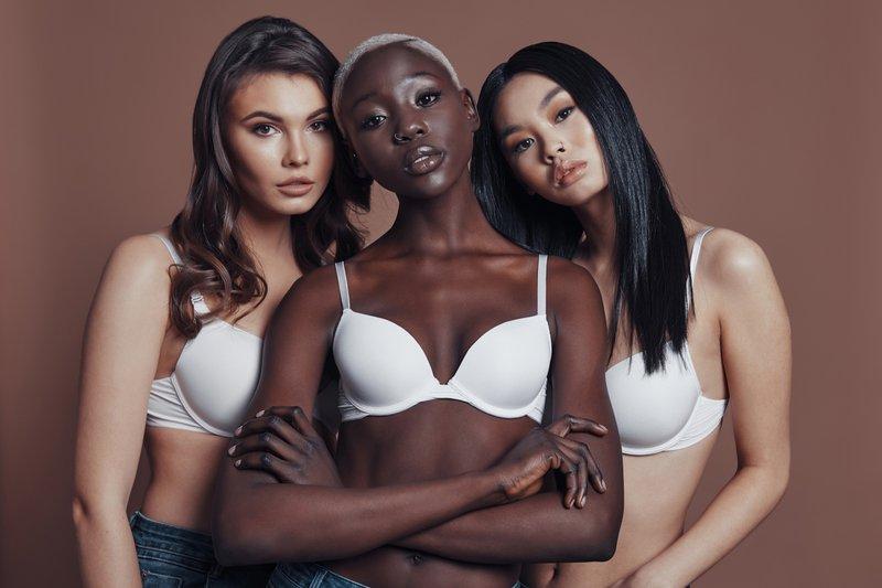Women wearing bras