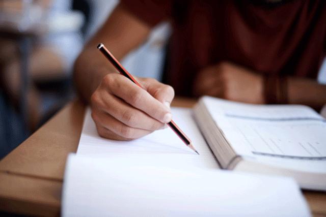 Writing an exam