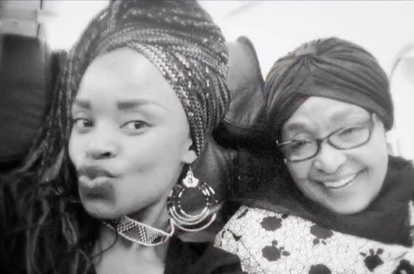 Zoleka Mandela and Winnie Mandela