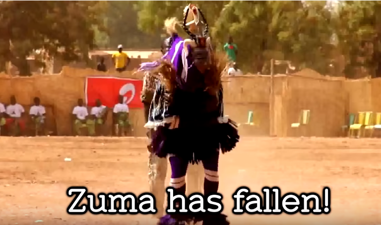'Zuma Has Fallen' is a hilarious jingle that marks this moment in history